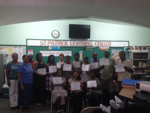 (August 2013, St. Croix USVI) St. Patrick's Alumni Association, Inc. Learning Center's happy Digital Literacy grads!