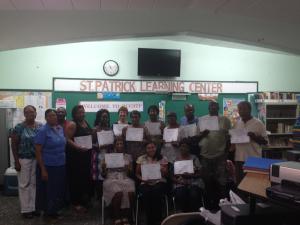 (August 2013, St. Croix USVI) St. Patrick's Alumni Association, Inc. Learning Center's happy Digital Literacy grads!