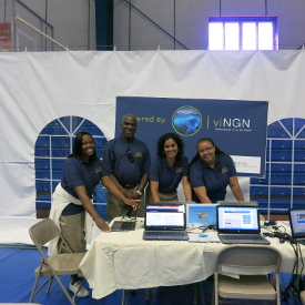 viNGN staff members at Chamber of Commerce Business Showcase - basic Digital Literacy signups!