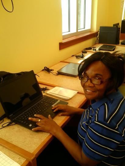new computer user Anita Bastian