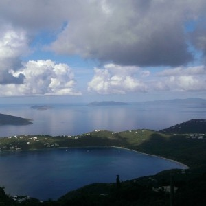 Magens Bay viewed from Mountain Top, St. Thomas USVI