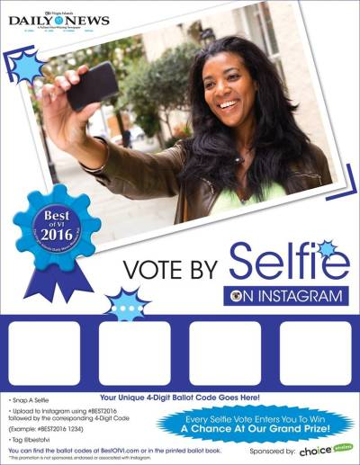 Vote with your selfie! #BEST2016