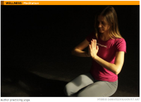 PhillyVoice contributor Amy Wright Glenn in Yoga practice (PhillyVoice.com)