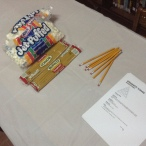 Preparing to build towers from pasta and marshmallows!