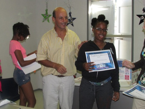 YWCA USVI Scratch camp led by UVI Associate Prof. Dr. Marc Boumedine (photo courtesy of YWCA USVI)