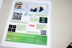 QR Code and info on free training
