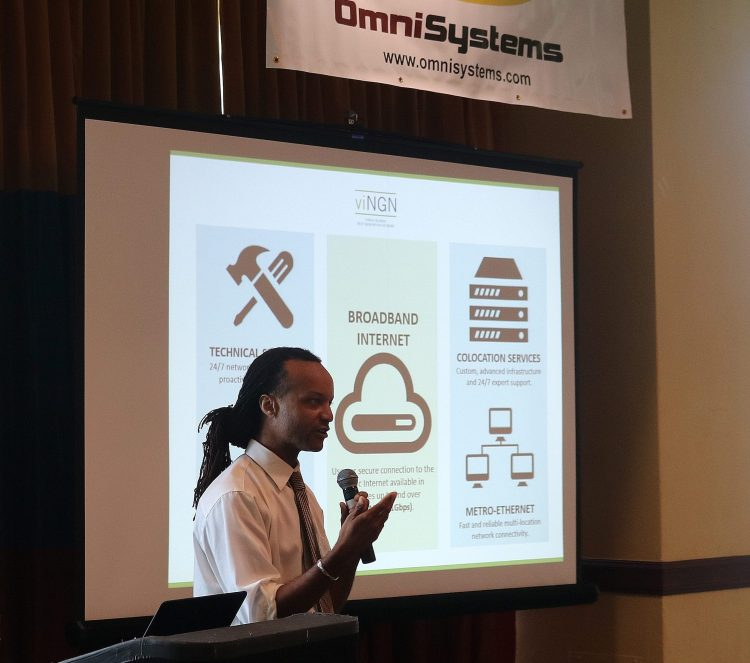 viNGN Senior Vice President and Chief Information Officer Daryl Wade provides attendees of OmniSystems, Inc. IT Expo with an overview of viNGN services to USVI telecommunications industry.