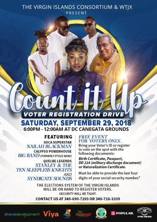 voter registration drive poster