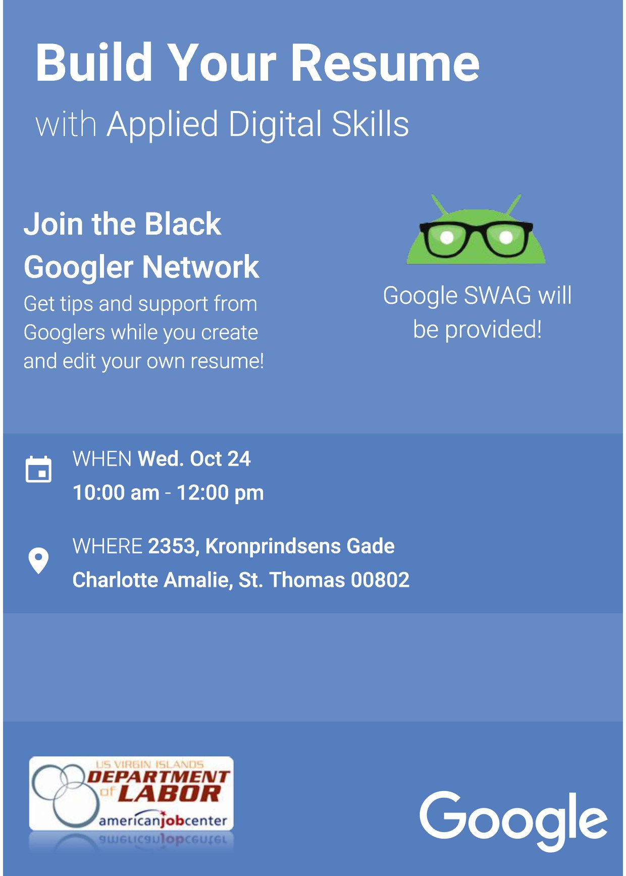 join google for a free resume workshop at the st  thomas