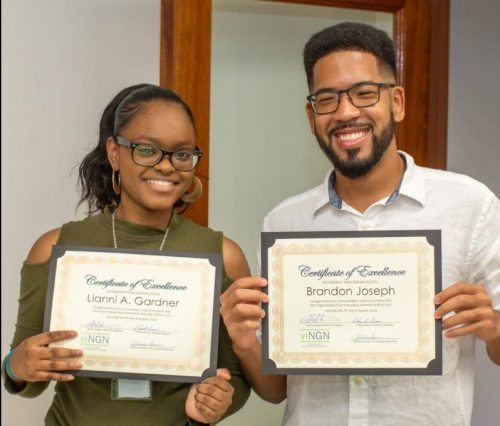 vingn 2019 interns lianni gardner and brandon joseph