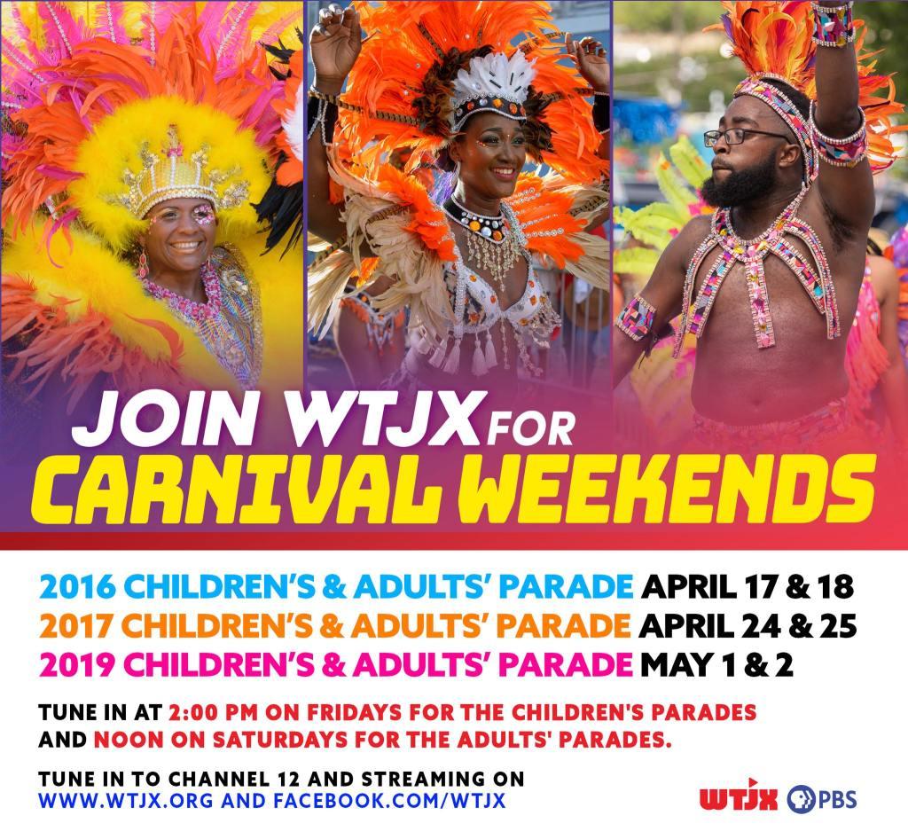 WTJX Virtual VI Carnival 2020 poster