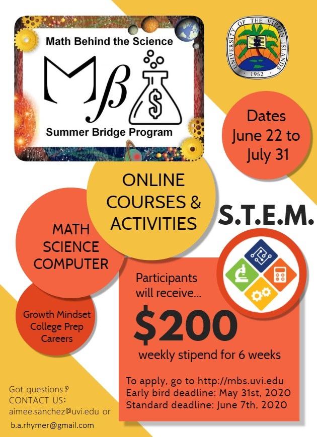 UVI MBS program poster